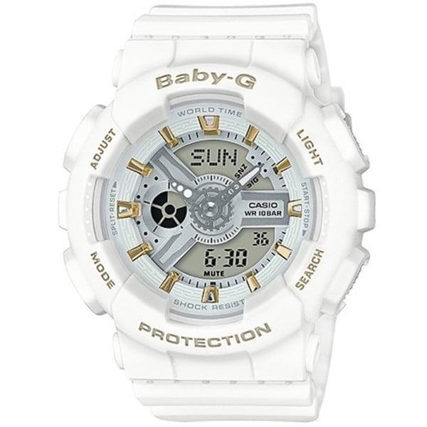 BABY-G BA-110系列百變的少女時代腕錶-白+金(BA-110GA-7A1)
