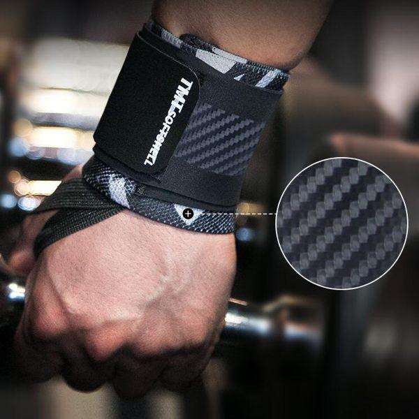 運動護具 健身護腕男臥推力量舉手套訓練助力帶固定防扭傷手腕繃帶 - 古梵希