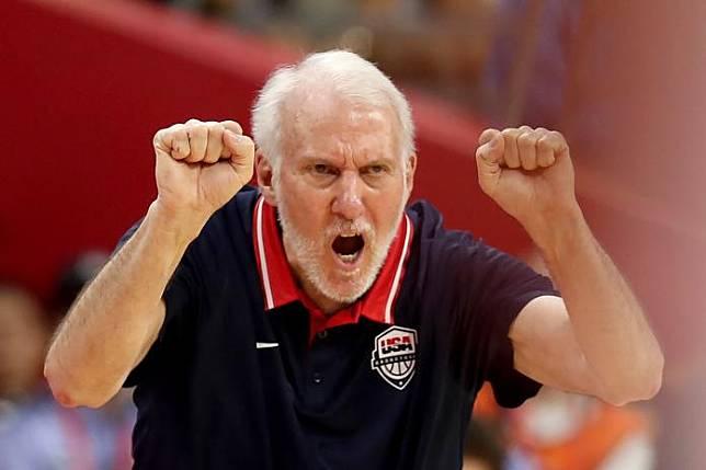 ▲本屆男籃世界盃美國隊主帥Gregg Popovich(圖/美聯社/達志影像)