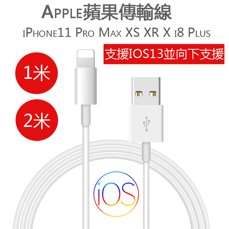 最高規iPhone充電傳輸線 經過蘋果MFI認證,相容IOS系統。正反隨意拔插,經久耐用,傳輸充電穩定快速安全,長度100CM/200CM 任選!