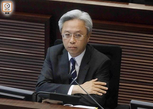 羅智光指是次撥款涉及公務員薪級表調整,屬恒常機制。(黃仲民攝)