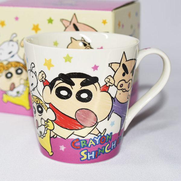 蠟筆小新 陶瓷馬克杯 附彩盒 日本正版品 彩色卡通漫畫風格 非常特別 口徑8.8×高8cm