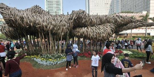 Instalasi bambu Getah-Getih. ©2018 Merdeka.com/Iqbal S Nugroho