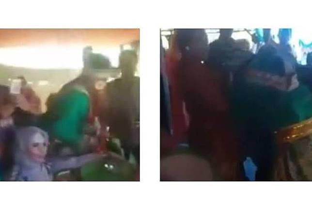 Sebuah video seorang pengantin pria pingsan setelah memeluk mantan yang menyanyi di hari pernikahannya viral di media sosial.(dok. YouTube)