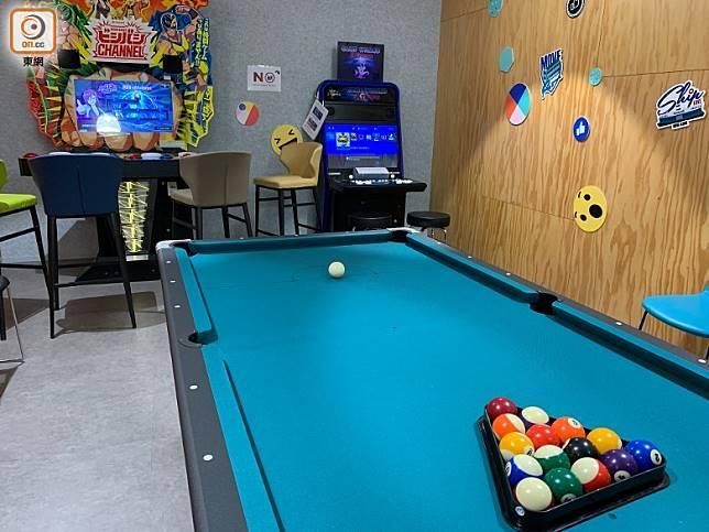 另有娛樂室,設有美式桌球及遊戲機。(陳志滔攝)