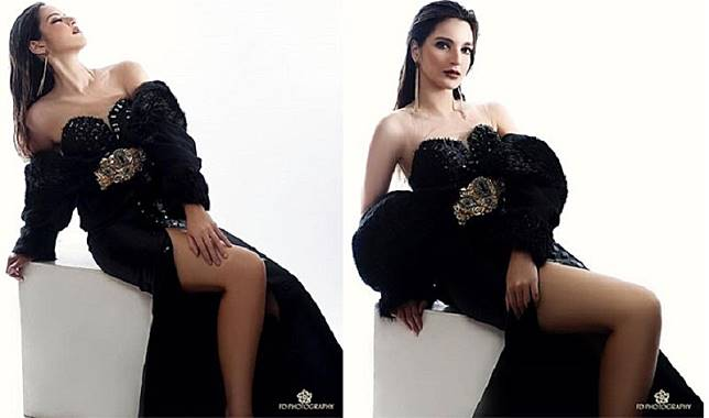 Pose Seksi Nia Ramadhani Bergaun Hitam, The Real Hot Mom!