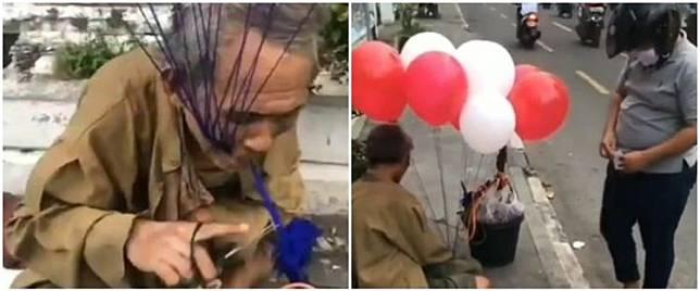 Kisah pilu seorang kakek di Jogja jalan 33 km untuk jualan balon