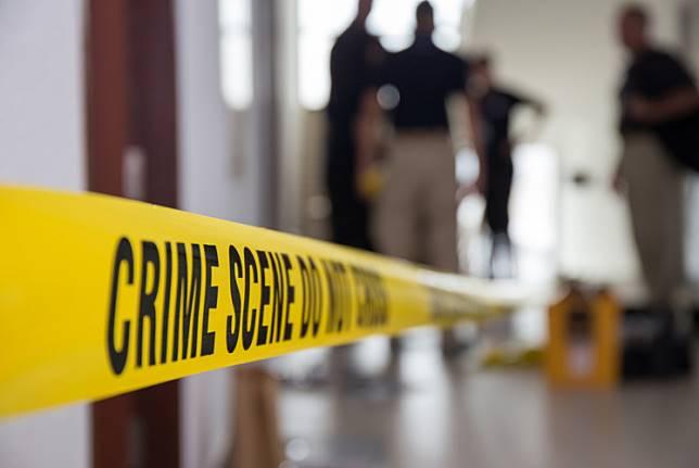Illustration of a crime scene.