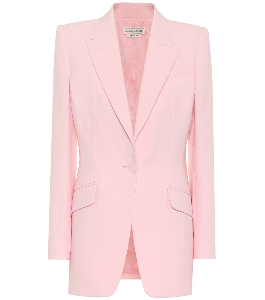 Alexander McQueen shows a sweeter side of its style with this magnolia-pink blazer, but its deftly t