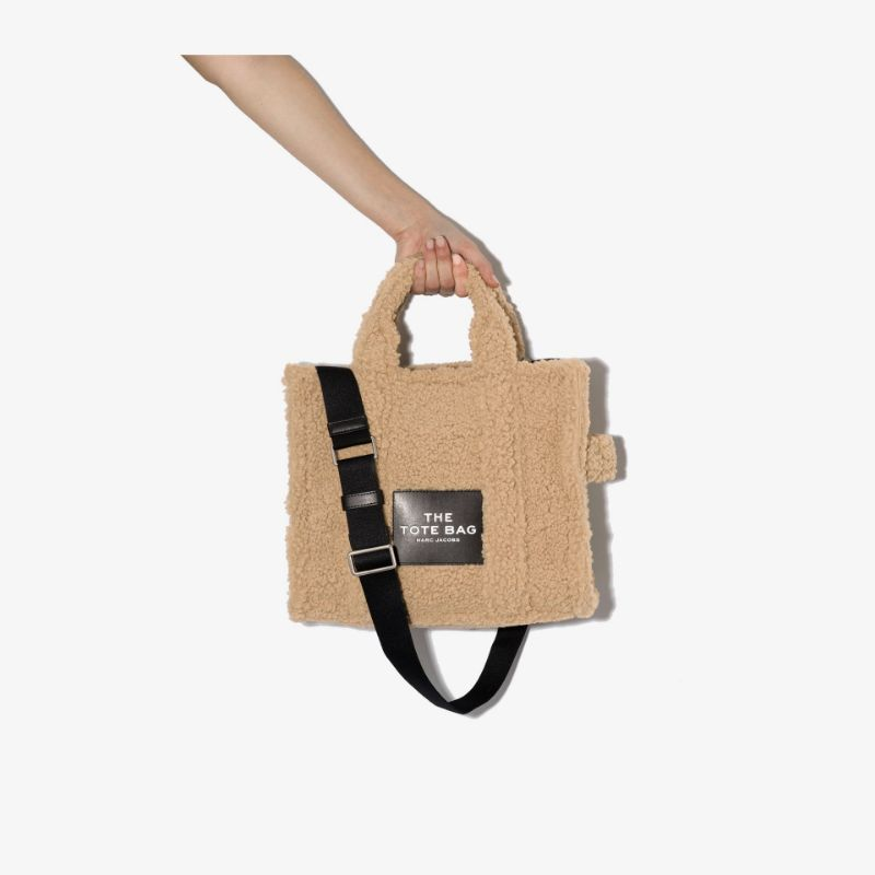 Marc Jacobs Womens Neutrals The Traveller Teddy Tote Bag