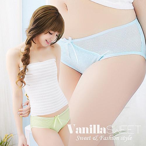 透氣棉質,舒適彈性佳n水玉點點搭配蝴蝶結,呈現可愛風n側邊網紗,打造獨特日式俏麗感