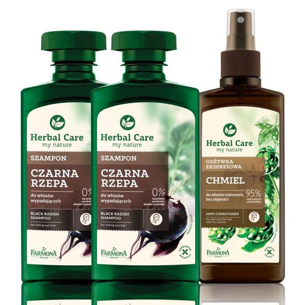 Herbal care 波蘭植萃 - 草本改善落髮強健洗護3入組 (洗髮露/健髮噴霧)