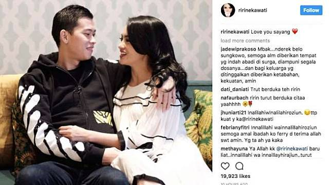 Ririn Ekawati dan suami Ferry Wijaya. (Instagram)
