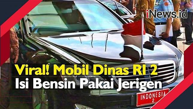 Viral Mobil wapres diisi bensin jeriken, ini penjelasan Kasatwapres. (Foto: iNews.id)
