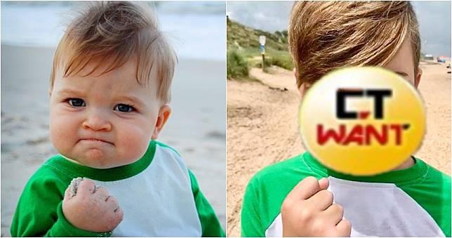 超紅梗圖「握拳寶寶」長大了 母揭拍照真相