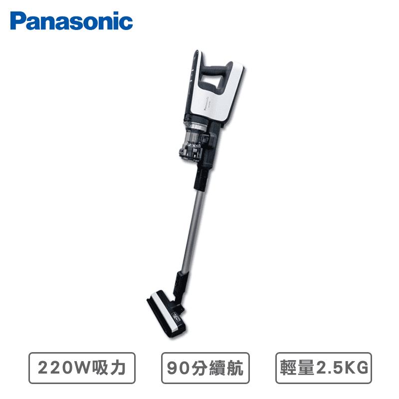 國際牌日本製無線吸塵器,輕量化2.5Kg設計,輕鬆拿取,新高效真空馬達,200W超大吸力,微塵感知Clean Sensor,偵測灰塵自動調整吸力,獨創可掀式壁咚吸頭,牆角灰塵徹底清除,人性化設計,減輕