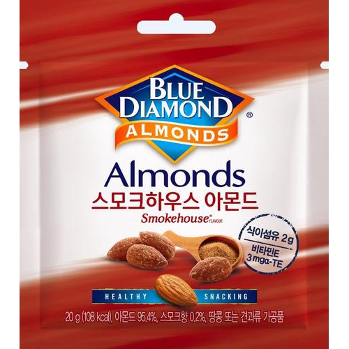 [BLUE DIAMOND] 煙燻味 杏仁 20GX12 [韓國直送]