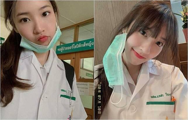 泰國正妹Puimek(娜帕誦薇拉尤蒂萊)擁有清純美麗的外型,本身還是個醫學系的高材生。(圖/翻攝自Puimek IG)