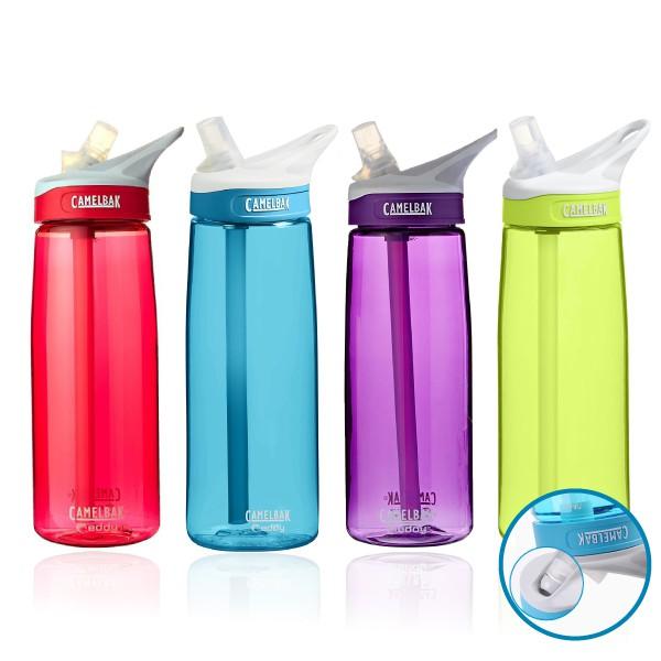 水瓶特色。 【商品規格】品牌:Camelbak產品:吸嘴式運動水壺顏色 :藍色/桃紅色/紫色/黑色容量:750ML是否有保溫功能 : 不保溫 產品耐溫: 0-70度 瓶口: 寬口徑 出水方式 : 吸管
