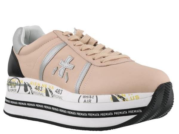 ■專櫃72折■2019新品■ 全新真品韓星最愛義大利Premiata 粉色厚底球鞋