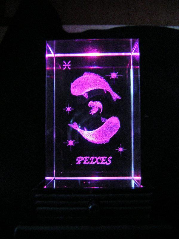 【采鑫坊】奧地利水晶燈立體雷射星座雙魚座&燈座一件
