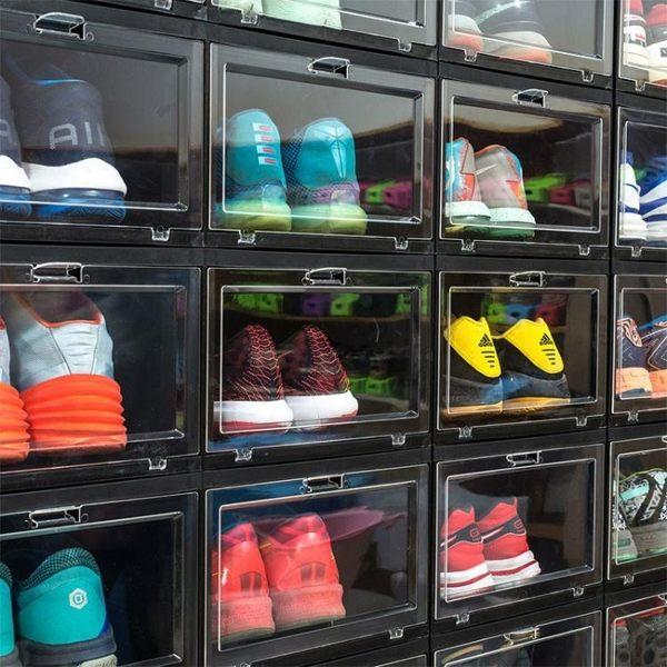納美嘉AJ球鞋亞克力收盒透明籃球鞋鞋盒收藏展示鞋柜球鞋收納