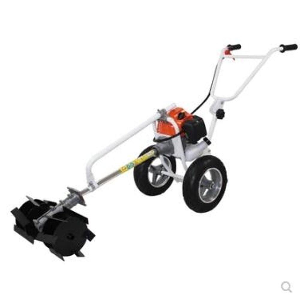 割草機進口引擎手推多功能鋤草機除草機鬆土機微耕機果園鋤地機 愛麗絲LX220V