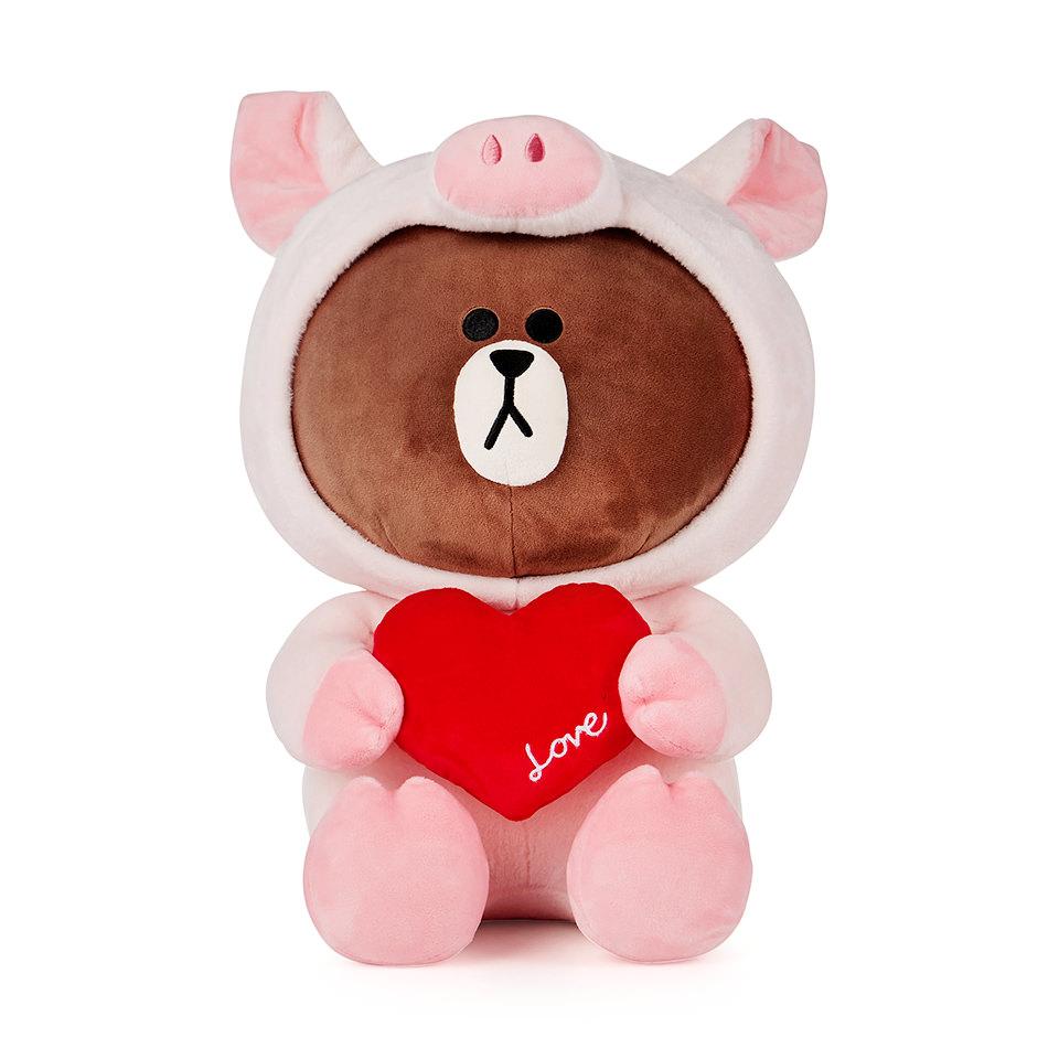粉紅豬熊大 45CM玩偶