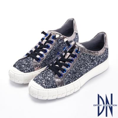 特殊彈性鞋帶 平底鞋款舒適好走 金屬感時尚元素必備
