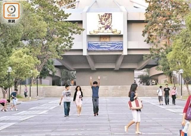 香港中文大學在榜上排名下跌一位,排名第8。