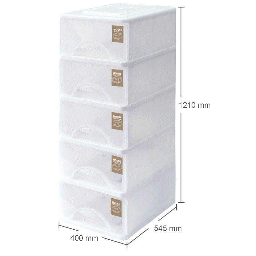 【免運費】大純白收納櫃-五層 大詠 HOUSE 置物櫃 層櫃 衣櫃 收納櫃 抽屜整理箱 TWLW05