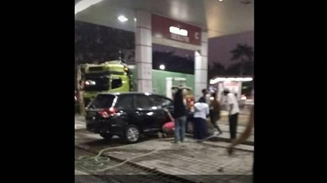 SPBU di Semarang. (Facebook/Mbah Karsono)