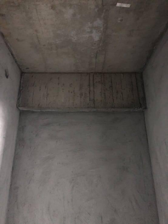 圖示:廁所內牆打底