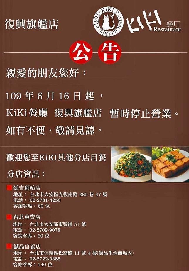 疫情衝擊扛不住!藍心湄KiKi餐廳王國 旗艦店6/16起掰掰了