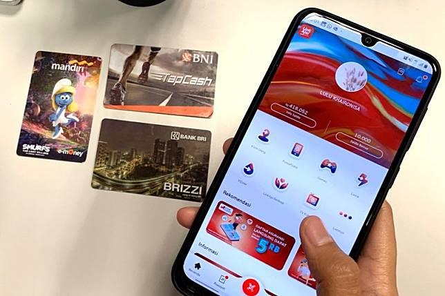 Sekarang top-up kartu uang elektronik bank Himbara bisa lewat LinkAja