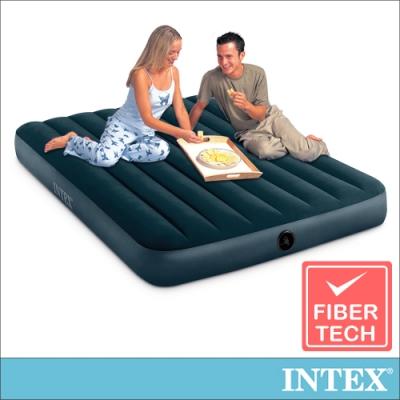 INTEX經典雙人(fiber-tech)充氣床墊(綠絨)-寬137cm(64733)