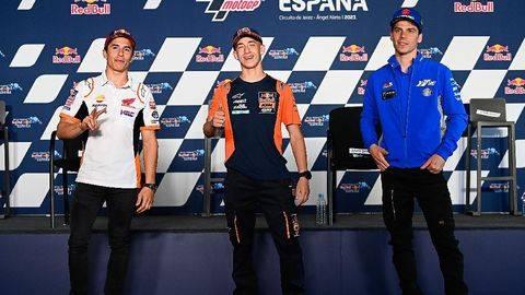 Marc Marquez disebut Joan Mir bukan alien MotoGP. (Dorna Sports)