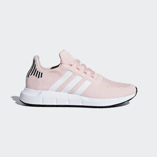 ○adidas Swift Run W 粉紅 白 透氣網布鞋面 時尚穿搭 襪套式 運動鞋 女鞋 B37681