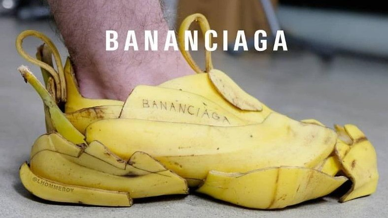 「Bananaciaga」老爹鞋惡搞!顛覆時尚的經典鞋~