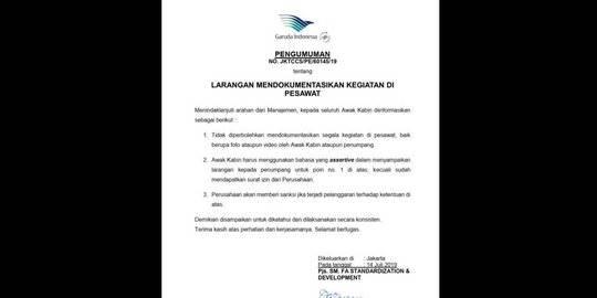 surat garuda. ©2019 Merdeka.com