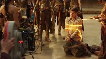 《神力女超人》原來是這樣拍的 綁住史帝夫「真言套索」其實是螢光繩...