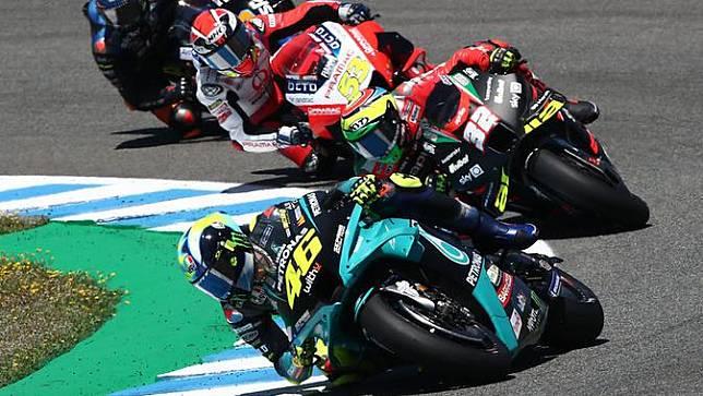 Valentino Rossi pada balapan MotoGP Jerez, hari Minggu (02/05/2021).  (Dokumentasi Petronas Yamaha SRT)