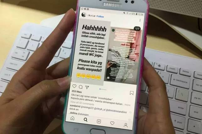 Fenomena crosshijaber yang sedang ramai di media sosial (ANTARA/Ida Nurcahyani)
