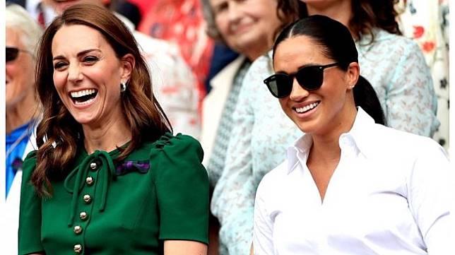 Kate Middleton dan Meghan Markle di Wimbledon 2019. (Instagram/@sussexroyal)