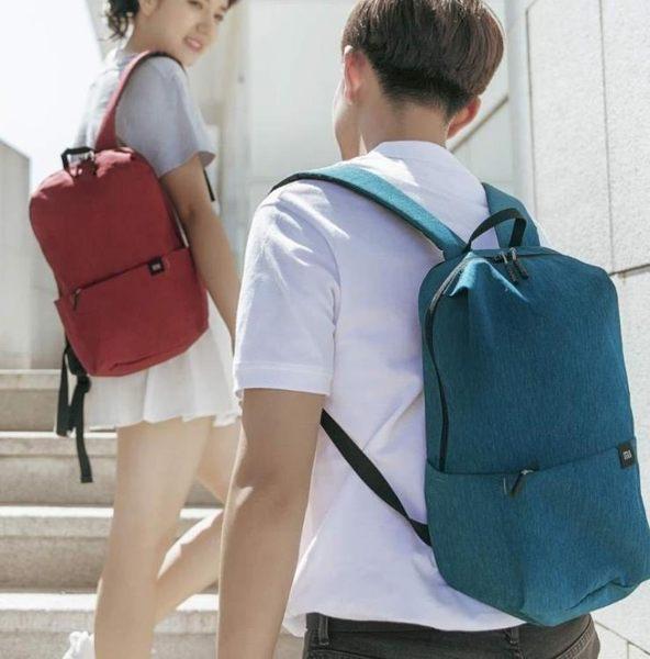 小米炫彩小背包男女雙肩包旅行包防水超輕便旅游包登山包學生書包【全館免運】