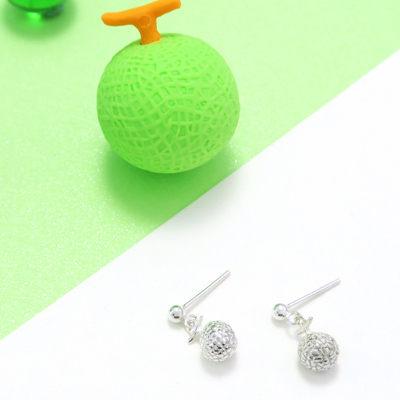 Fruit福祿果 哈密瓜 水果 純銀垂墬耳環 (單支)