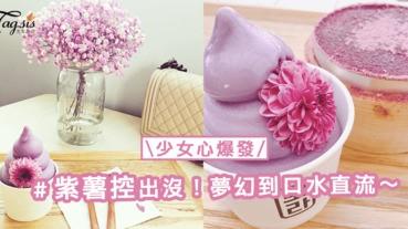 韓國首爾紫薯熱!紫薯控舉手~夢幻「紫薯冰淇淋」味道濃郁顏色又好看!
