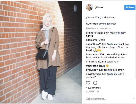 Contek 8 Style Selebgram Hijab Memakai Celana Kulot Panjang Buat Ke