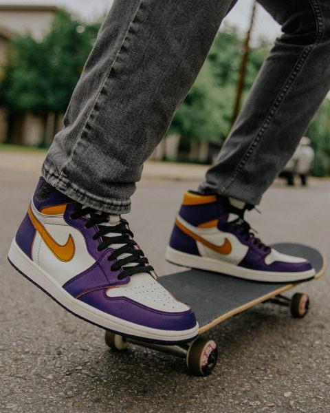 IMPACT Nike SB X Air Jordan 1 黃 紫 刮刮樂 湖人隊配色 喬丹 CD6578-507