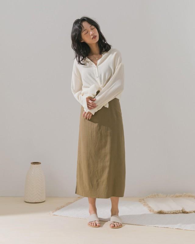 MEIERQ+涼爽透膚感細壓紋襯衫